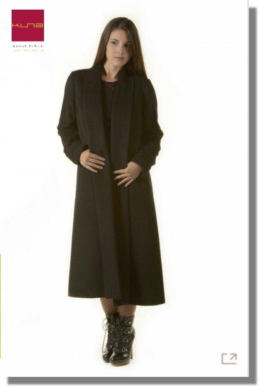 Basic Alpaka Mantel in Black/Paco LONG SWING KUNA Essentials