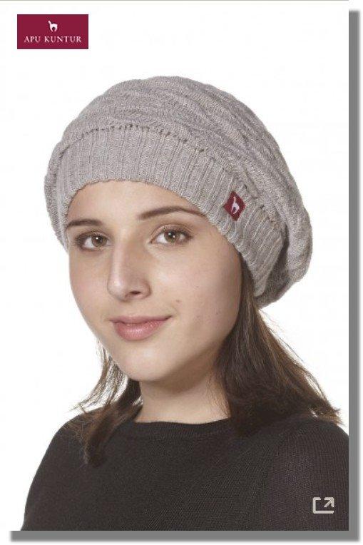 Strick-Beret BIESEN Basken-Mütze aus reinem Alpaka Damen