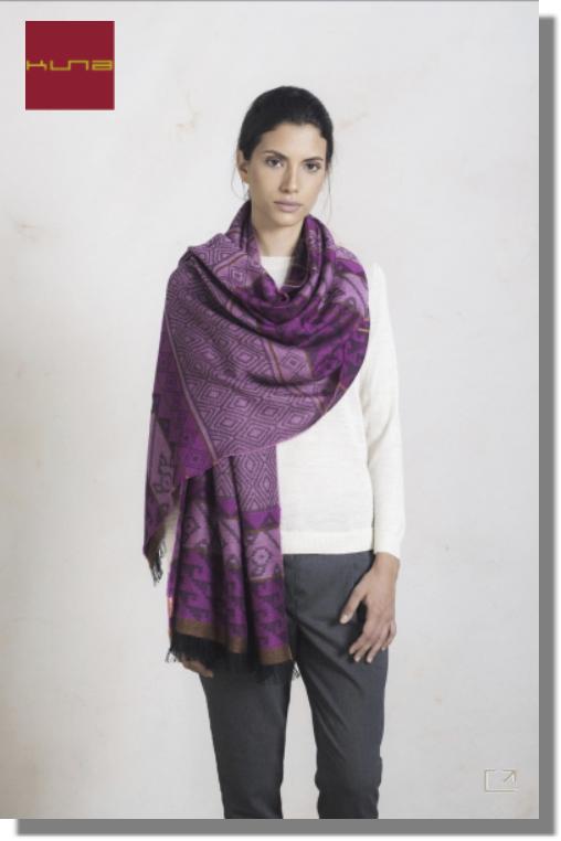 Damen Webschal PARTICULA 200 x 75 cm leichte Fransen rosado-XXC0004 | one-size