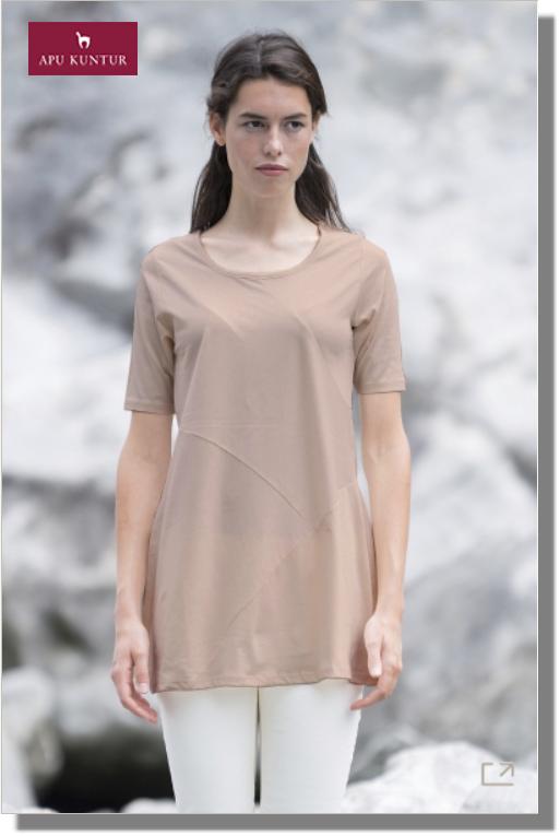 Kurzarm-Tunika DAZOS aus Bio Pima Baumwolle für Damen