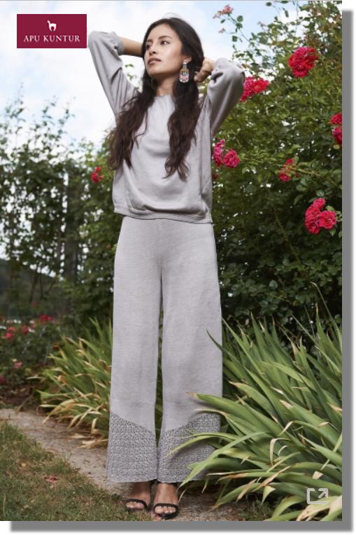Strick-Hose CALADO mit elastischem Bund aus Bio-Pima-Baumwolle für Damen