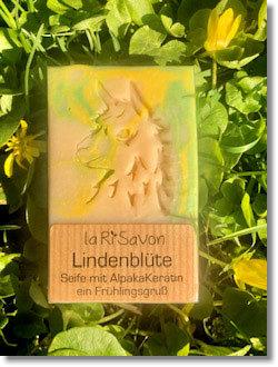 """Alpakaseife - """"Lindenblüte"""" von laRiSavon - Neu!"""