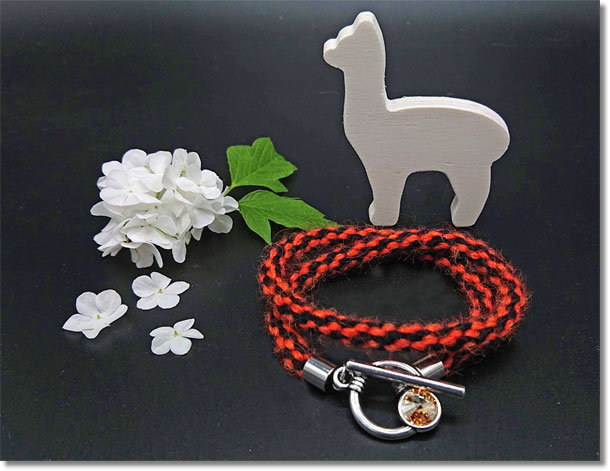Wickelarmband Alpaca Ethno