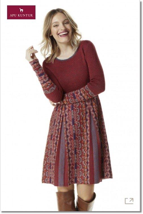 Strick Kleid GELIA Damen gemustert Ethno-Look