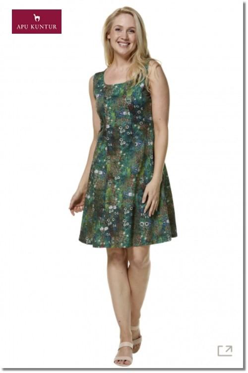 Bedrucktes Blumen-Sommer-Kleid MATILDE aus Bio-Pima-Baumwolle für Damen