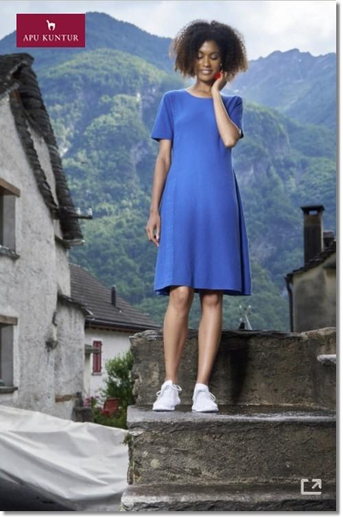 Strickkleid MERARI aus Royal Alpaka und Bio Baumwolle für Damen