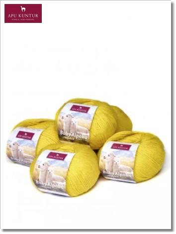 Zitronengelb 50g Baby Alpakawolle