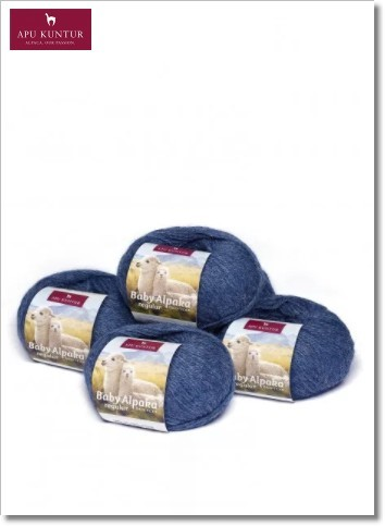 Hellblau Melange 50g Baby Alpakawolle