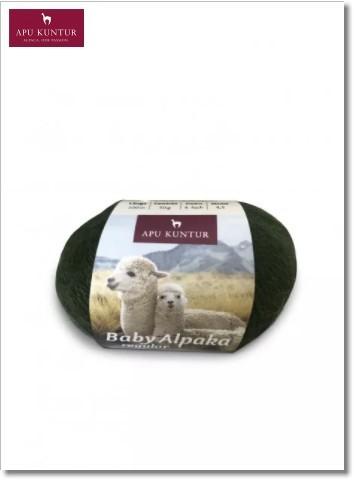Tannengrün 50g Baby Alpakawolle