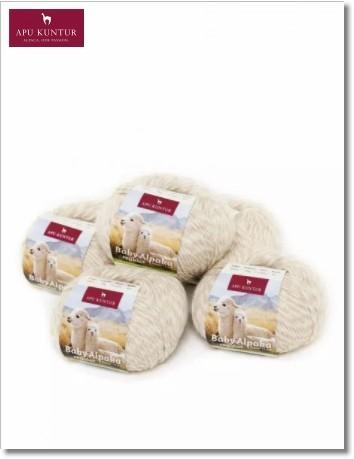 Beige Melange 50g Baby Alpakawolle
