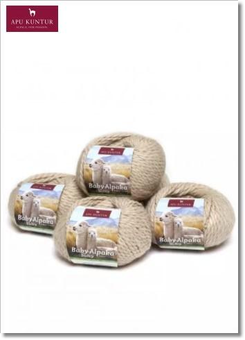 Beige 50g Baby Alpakawolle