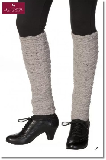 Damen Beinstulpen BIESEN Baby-Alpaka Gelenkwärmer - sand