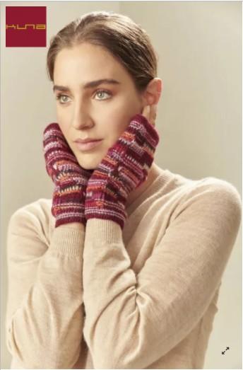 Pulswärmer fingerlose Handschuhe UCRANIA aus Baby Alpaka - XXC0004