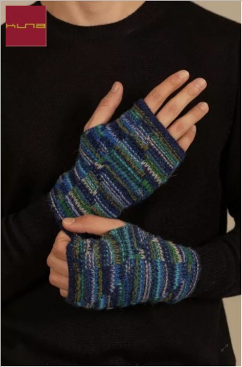 Pulswärmer fingerlose Handschuhe UCRANIA aus Baby Alpaka - XXC0005