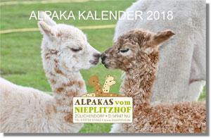 Alpaka Wand Kalender 2018 DIN A3 Quer